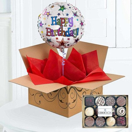 Helium Birthday Balloon Chocolates 1799 FREE Delivery